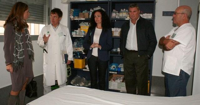Visita al centro de salud de Cartaya.