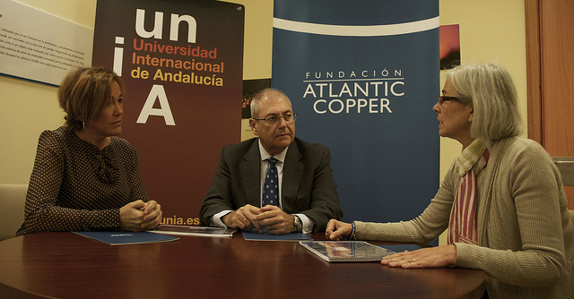 Responsables de la UNIA y de la Fundación Atlantic Copper.