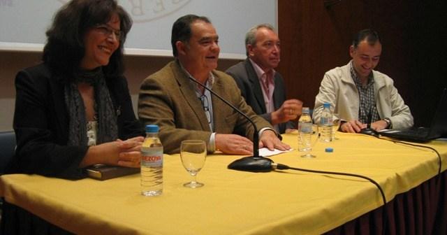 De izquierda a derecha, Carmen Fonseca, Juan Carlos Lagares, Juan Manuel Jurado y Eugenio Bernal.