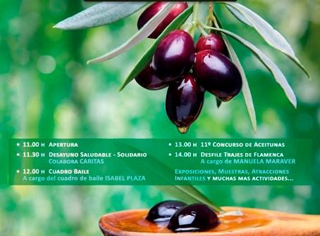 Cartel de la I Fiesta de la Aceituna y el Aceite.