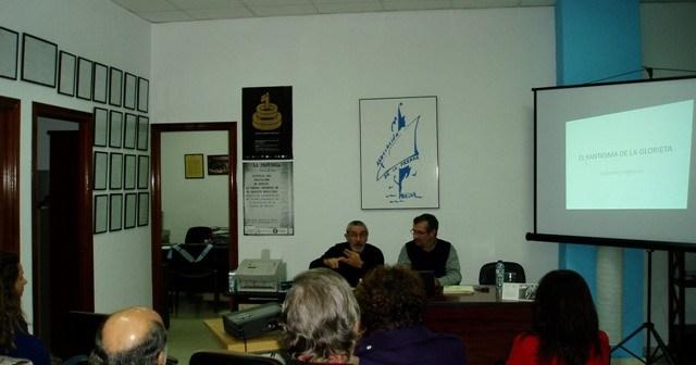 Félix Morales y Rafael Terán en la presentación.