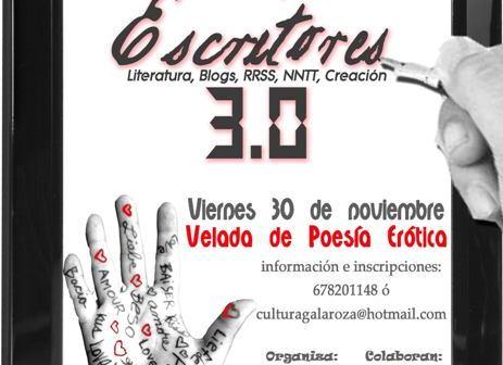 Cartel del encuentro de escritores en Galaroza.