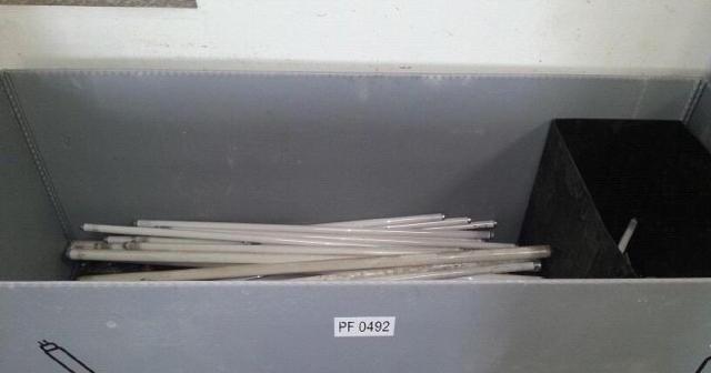 Lamparas para ser recicladas.