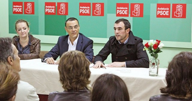 Reunión de Ignacio Caraballo con el PSOE de Bollullos.