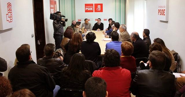 Reunión de Caraballo con responsables municipales del PSOE.
