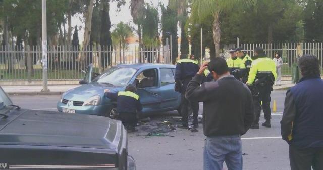 Accidente en Huelva este miércoles. (@sorayajimlop)