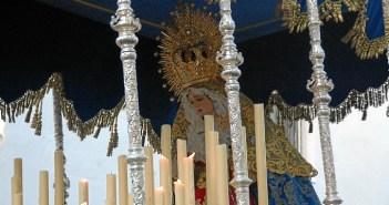La Virgen de los Dolores en su salida procesional de este año 2013. (J.C. Barambio)