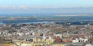 Vista aérea de Huelva capital.
