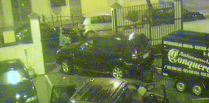 Imagen captada por las cámaras de seguridad del robo en el edificio de Aduanas.