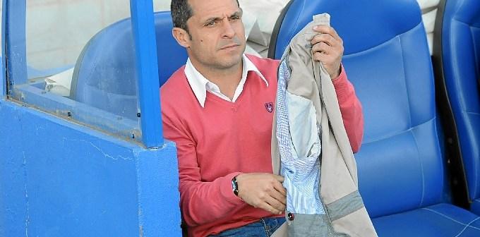 Sergi Barjuan, técnico del Recreativo. (Espínola)