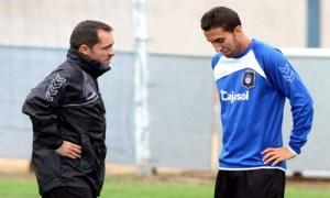 Sergi Barjuan dialogando con Montoro.