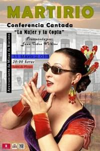 Cartel de la conferencia cantada de Martirio en Minas de Riotinto.