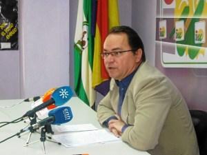 Francisco Javier Camacho en rueda de prensa.