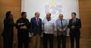 Logotipo del 125 aniversario del Recreativo de Huelva.