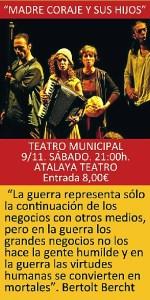 Cartel de la representación teatral este sábado en Trigueros.