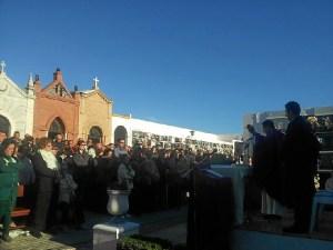 Misa de difuntos en Ayamonte.