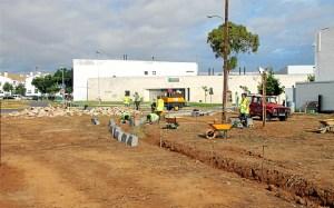 Una de las obras que han dado comienzo en San Juan del Puerto.