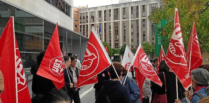 Protesta de UGT.