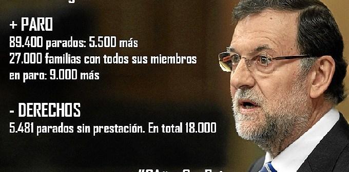 Imagen que el PSOE ha colgado en su página web como resumen de los dos años del Gobierno del PP.