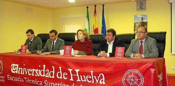 Inauguración de las jornadas mineras en la Universidad de Huelva.