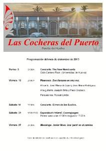 Programación de las Cocheras del Puerto en diciembre.