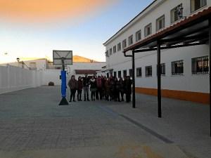 Visita a las obras del colegio en Paterna del Campo.