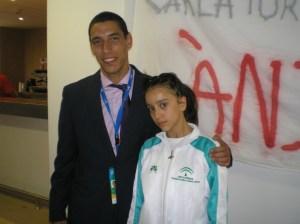 Aida Fernández y alexander Gey, judocas ayamontinos.