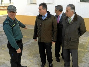 20140124 Subdelegado La Palma obras PROFEA cuartel Guardia Civil