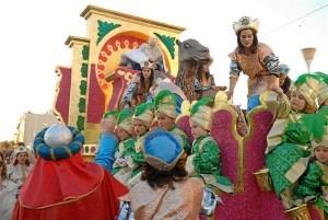Cabalgata de Reyes Magos en Lepe el pasado año.