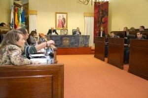 Imagen de la sesión plenaria celebrada este miércoles en la Diputación.