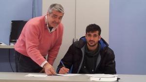 Álex Pérez, nuevo jugador del Recreativo de Huelva.