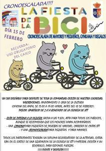 Cartel de la Fiesta de la Bici en Paterna del Campo.
