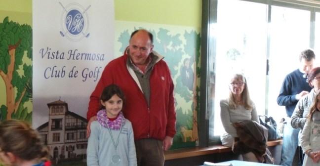 Laura López, joven golfista onubense.