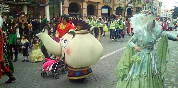 Imagen de archivo del desfile del Carnaval Colombino del pasado año