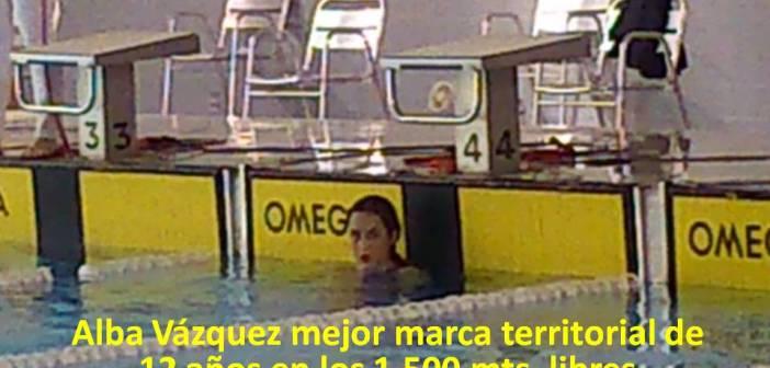 Récord de Alba Vázquez en 1500 metros.