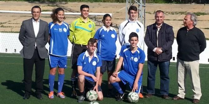 Selecciones provinciales de fútbol con Ignacio Caraballo y José Antonio Fernández.