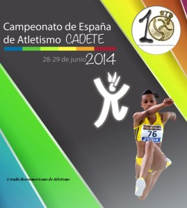 Cartel del Campeonato de España cadete de atletismo.