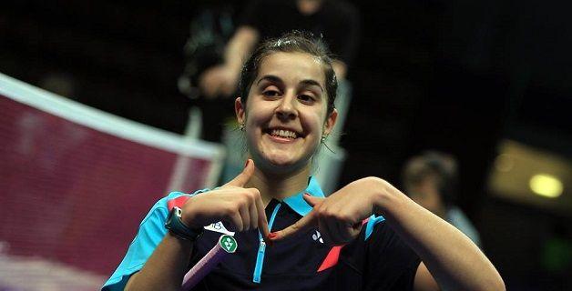 Carolina Marín en el Campeonato Europa 2014.