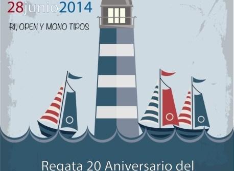 Cartel Regata 20 Aniversario del Muelle de las Carabelas.