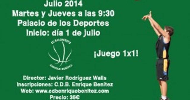 Cartel de Tecnificación del CDB Enrique Benítez.