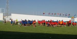 Atletismo de base en el Iberoamericano.