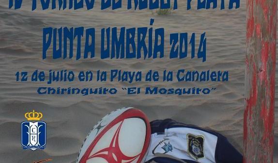 Cartel del IV Torneo de rugby playa.