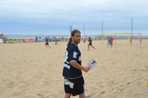 Dani Pajón, jugador onubense de fútbol playa.