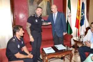 Convenio en el Ayuntamiento para los Juegos Europeos de Policías y Bomberos.