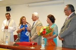 La Alcaldesa ha presidido junto al Patron Mayor de la Cofradia y al Cra parroco el XLI Homenaje al Marinero