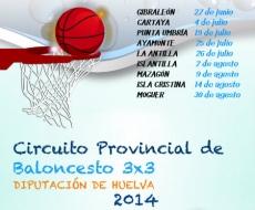 Cartel del Circuito Provincial de baloncesto.