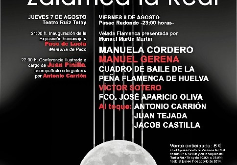 CARTEL FESTIVA FLAMENCO 2014 b CHICO