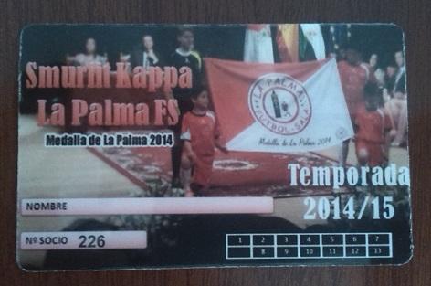 Carnet de la temporada 2014/15 del Smurfit Kappa de La Palma.