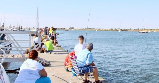 Concurso de pesca en Punta Umbría.