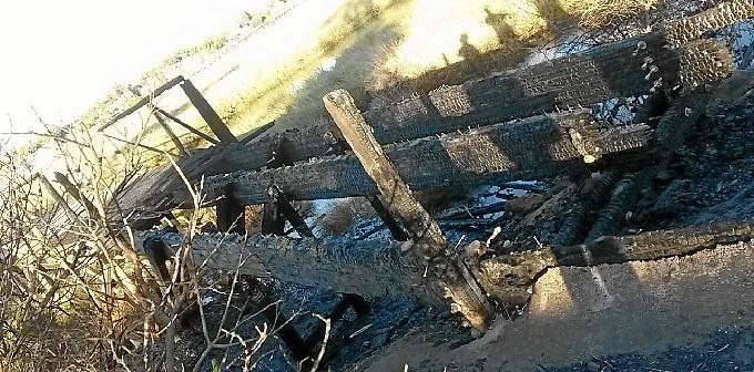 Zona quemada del puente